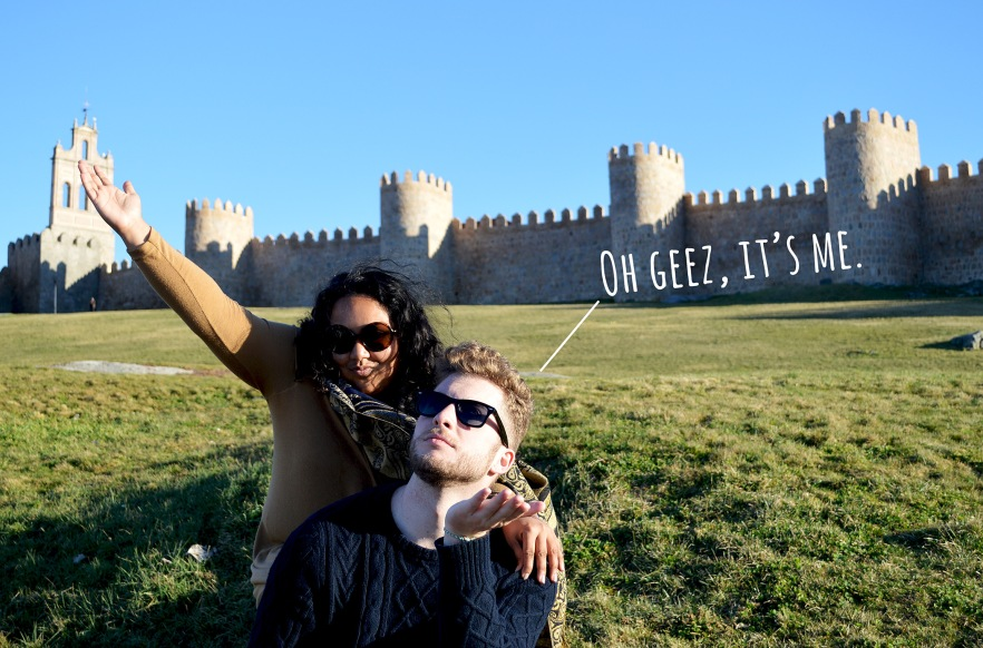 snarky sightseer, wall of avila, spain